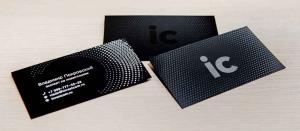 ВИП визитки из дизайнерского картона